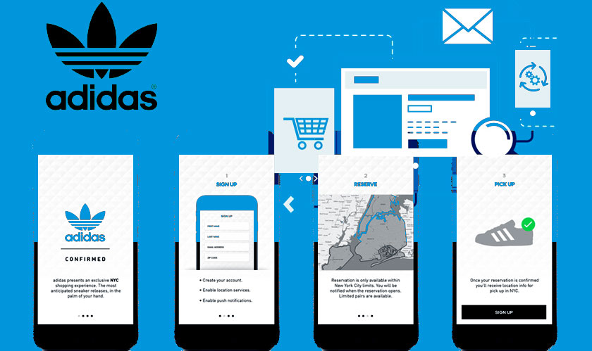 adidas launched shopping app