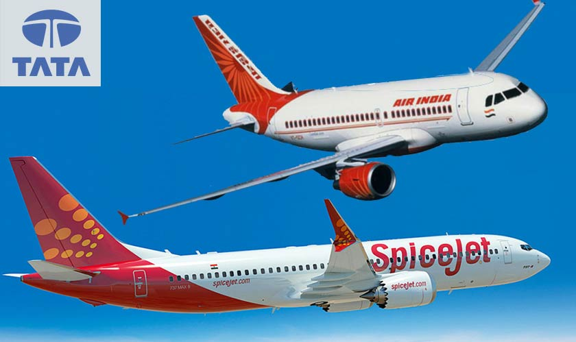 tata spicejet put in financial bids for air india acquisition