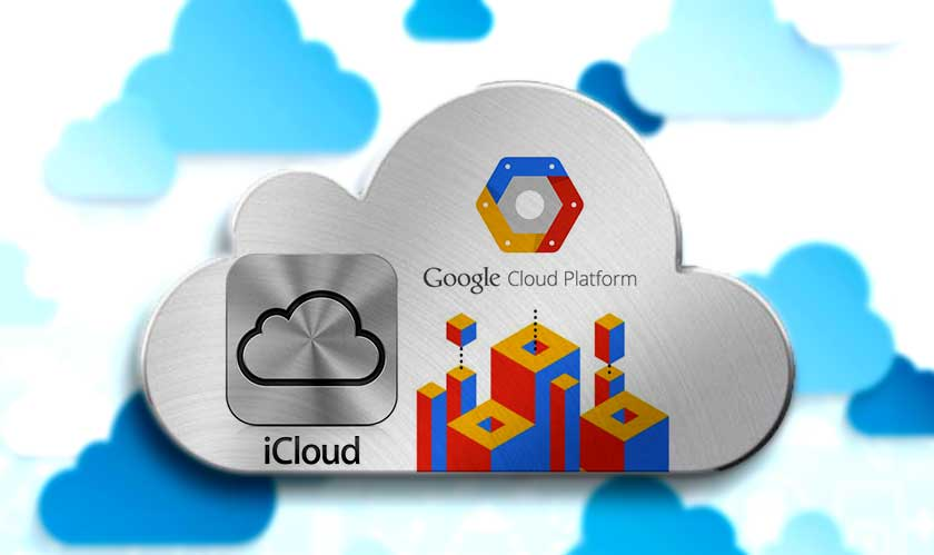 apple icloud on google cloud