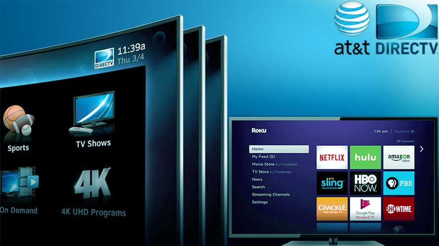 att gives directv now a push up with free roku subscription