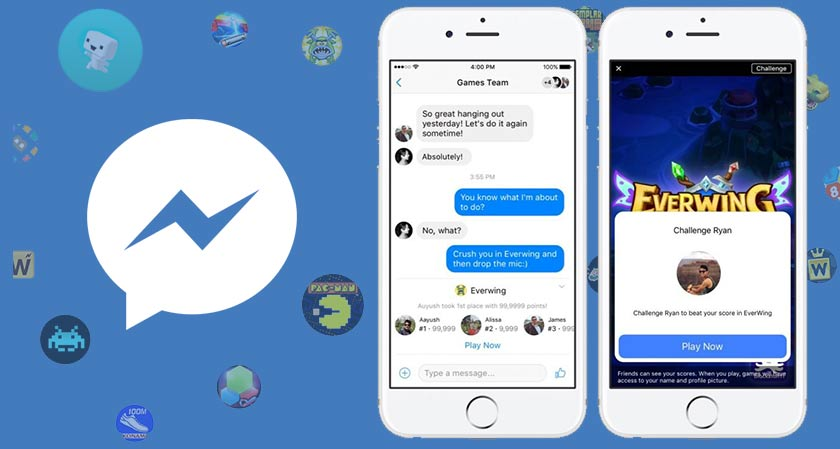 bored of waiting for a reply in messenger have you played instant games yet