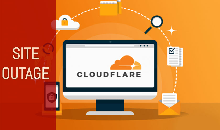 cloudflare site outage