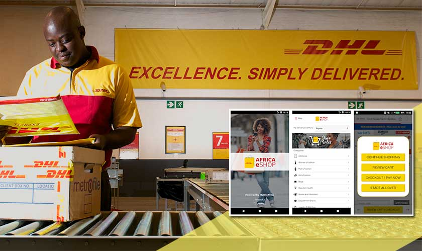 dhl launched africa eshop app