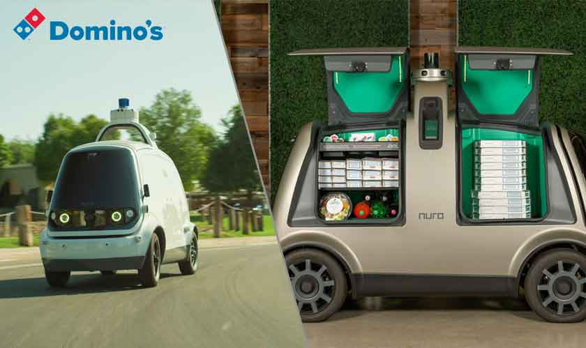 dominos pizza driverless delivery
