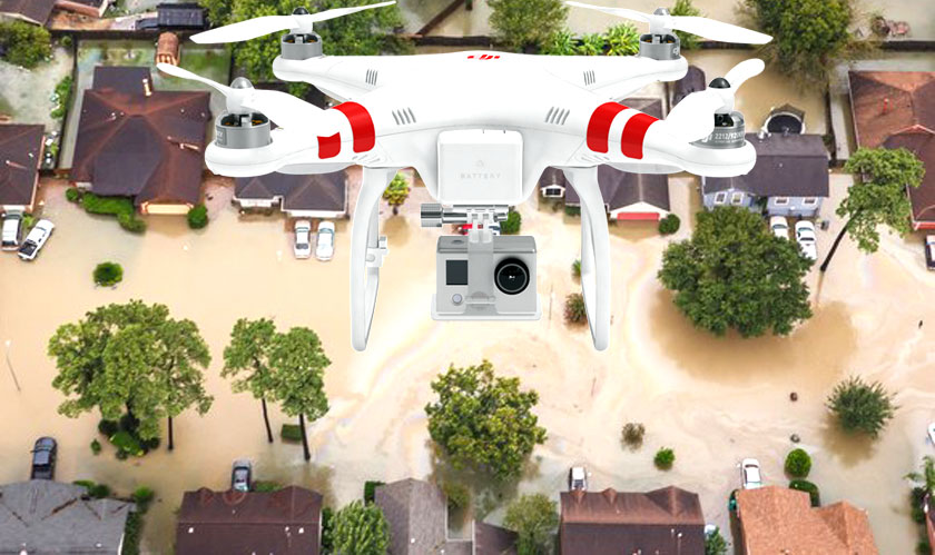 drones proved to be effective to recoup houston