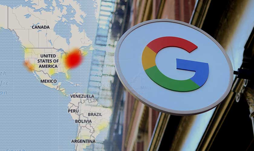 google outage on web services