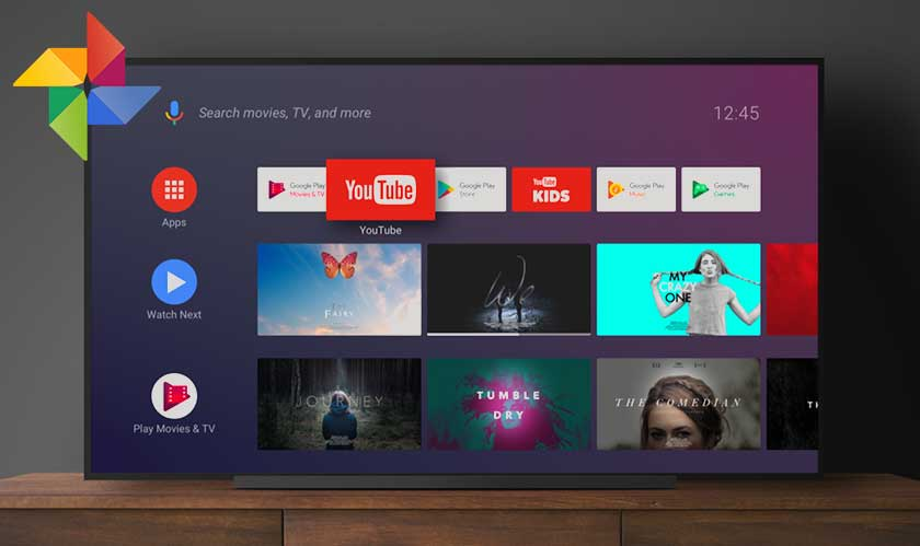 google photos disabled android tv