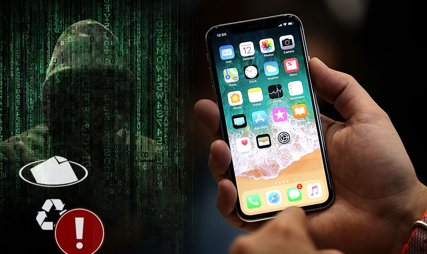 iphonex deleted files hacked