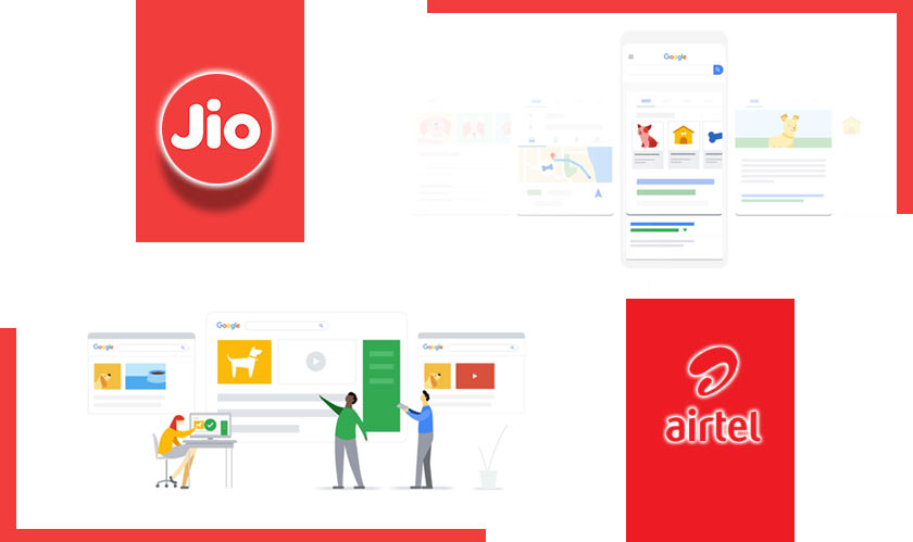 jioairtel collaborating with google