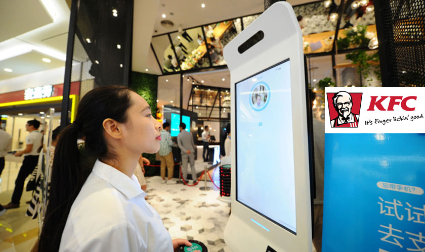 kfc outlet in china introduces smile to pay