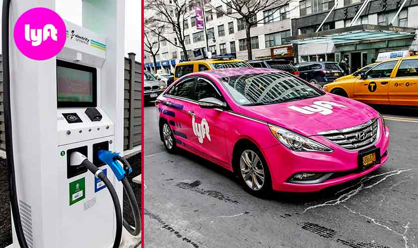 lyft ev chargers for taxi