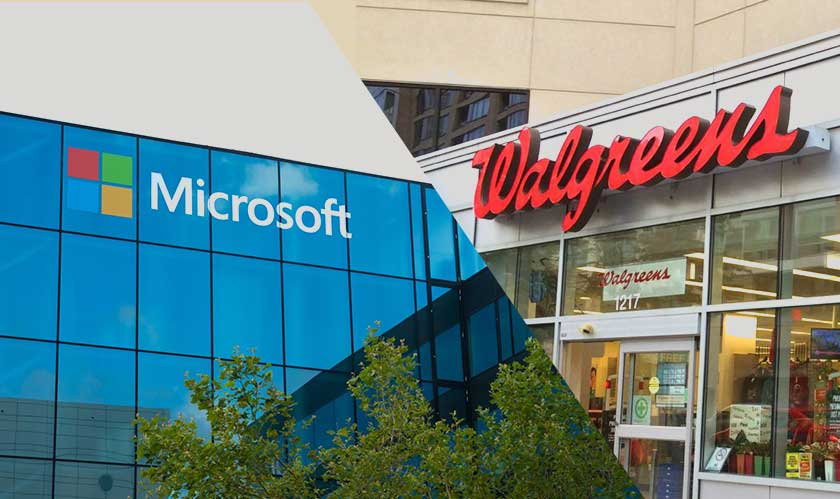 microsoft and walgreens for healthcare