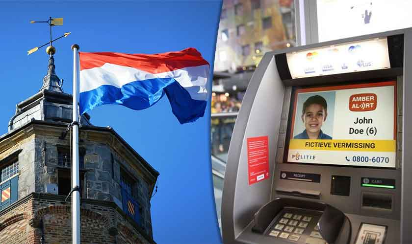 netherlands atm show missing kids