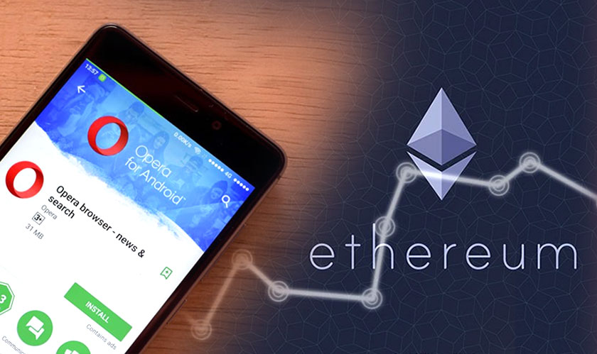 opera mobile browser supports ether