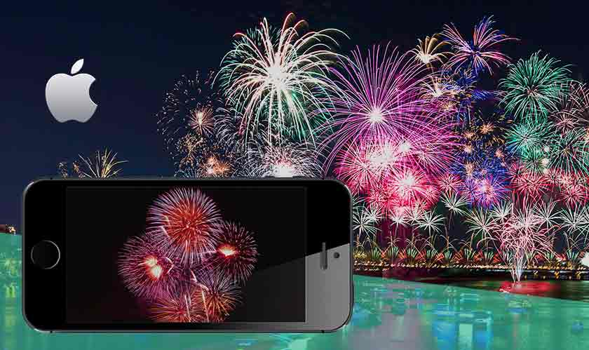 perfect fireworks pictures in iphone