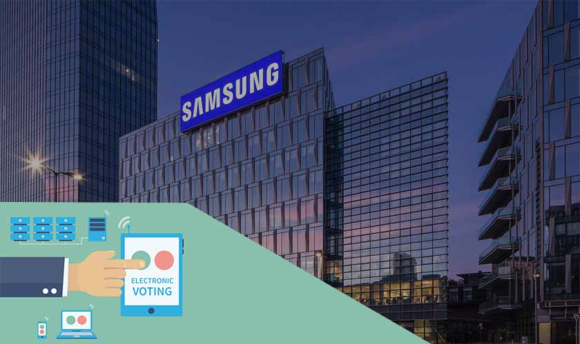 samsung shareholders electronic voting