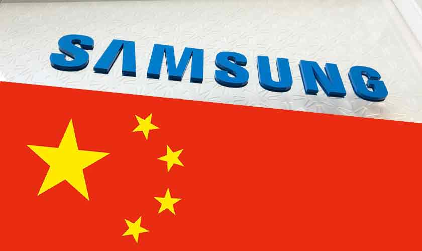 samsung stops producing phones china