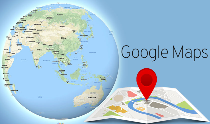 google maps earth as globe