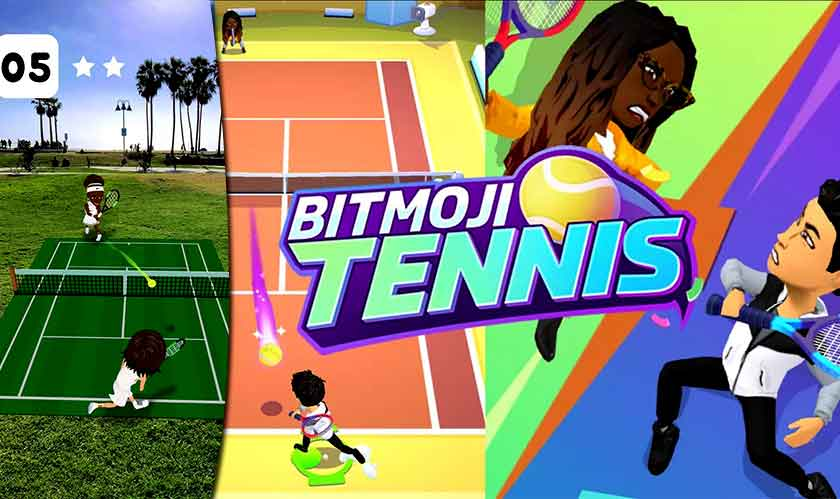 snapchat rolls out bitmoji tennis game
