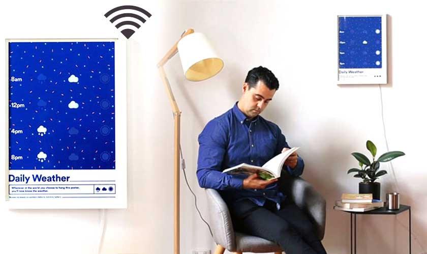 weather poster uses wifi