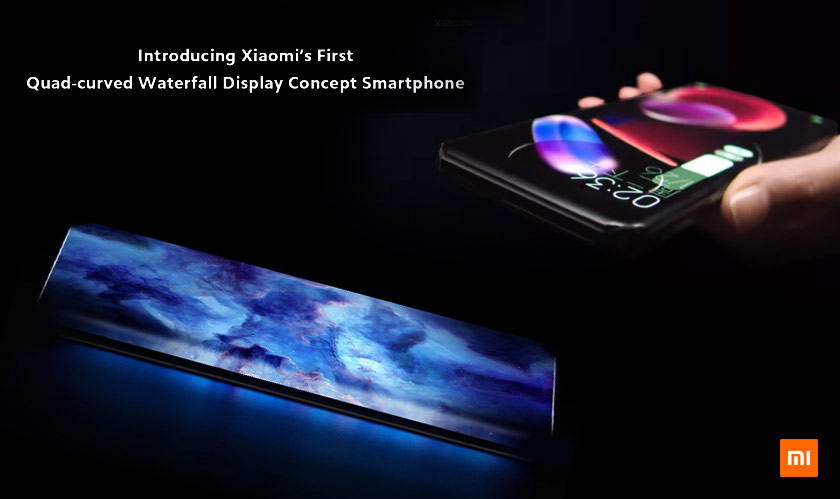 xiaomi unveils its quad waterfall display with a new concept phone